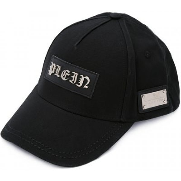 "PHILIPP PLEIN CASQUETTE ""GHOTIC ONE"" BLACK"