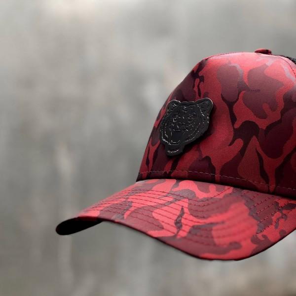 RICALYCE RED CAMO MESH TIGER CAP