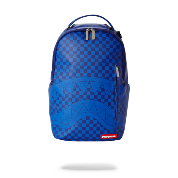 - 20 SPRAYGROUND BLUE CHEKERED BACKPACK