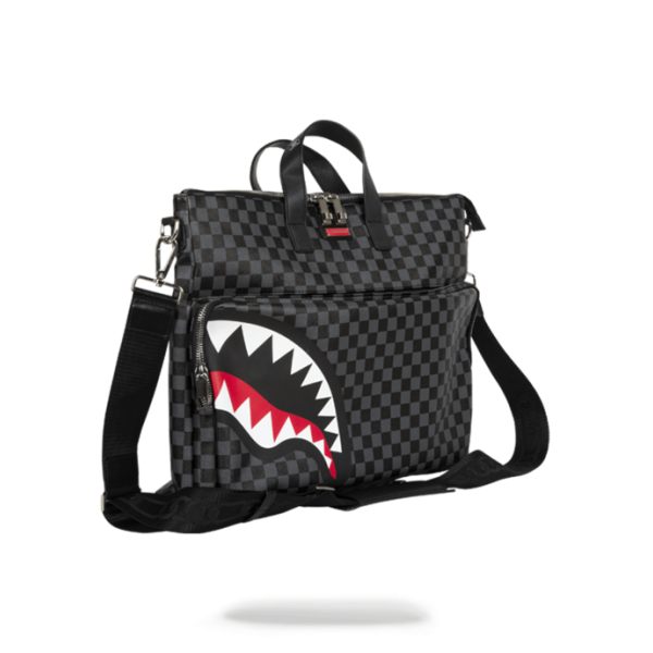SPRAYGROUND SHARKS IN PARIS (BLACK CHECKER) TRAVELCASE
