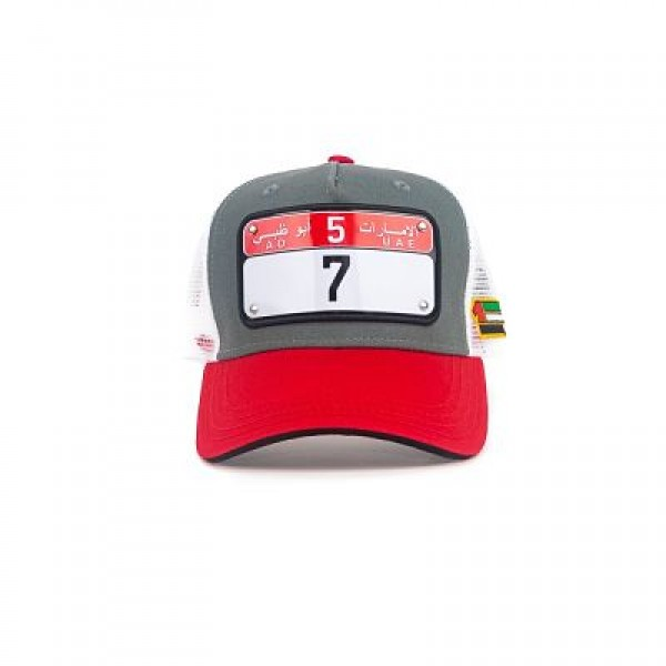 """RAQAM CAPS """"AUH CAP / Nº 7 / MODEL 2"""" Grey /  White  / Red / Black"""